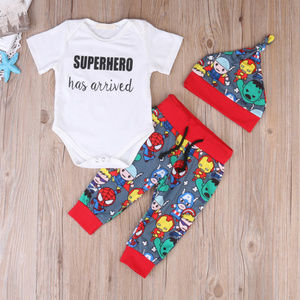 Super Hero Has Arrived Avengers Baby Boys Outfit